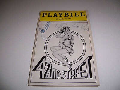 1988 Autographed 42Nd Street Theatre Playbill - Jim Walton Clare Leach & Another