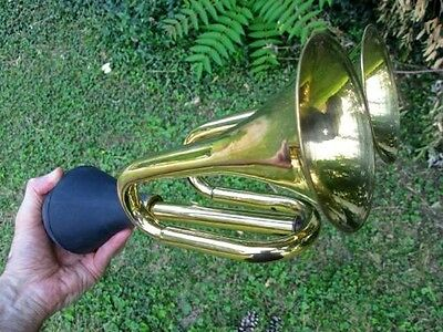 DOUBLE BELL BRASS BULB HORN reproduction vintage antique old car taxi clown bulb