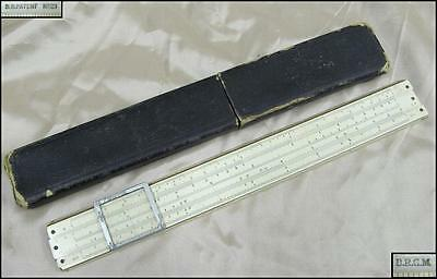 WWII ORIGINAL GERMAN DRGM DRP LOGARITHMIC SLIDE RULE A.NESTLER w/ORIGINAL CASE