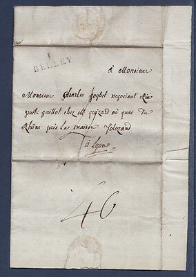 timbre France marque postale   Belley  1816