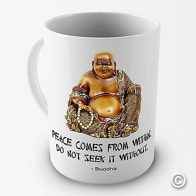 Peace Comes From Within' Buddah Novelty Mug Tea Coffee Gift Office Cup