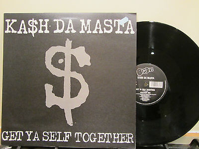 "Kash Da Masta - Get Ya Self Together - Uk 12"" Funky Hip Hop - Original N/m 1990"