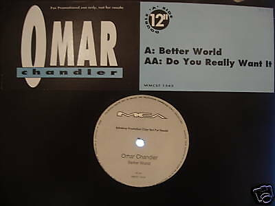 "Omar Chandler - Better World - Uk 12"" - 1991 Modern Soul Promo"