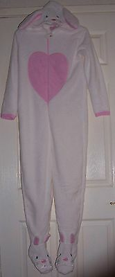 Girls ALL IN ONE sleep suit with White Rabbit