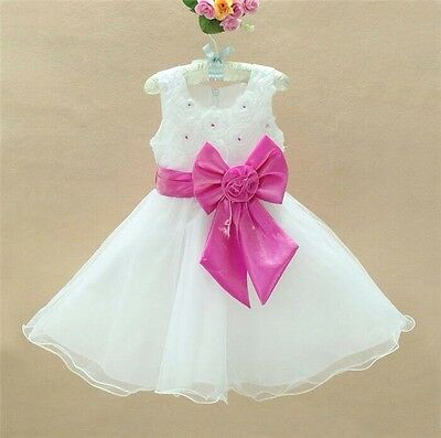 Baby Flower Girls Party Bridesmaid Wedding Christening Sparkly Dress 6Mos-9Years