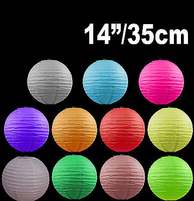 """Paper Lanterns Colourful Wedding Party home Party Chinese Decoration  14"""" / 35cm"""