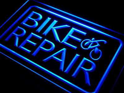 j053-b Bike and Repair Services Neon Light Sign