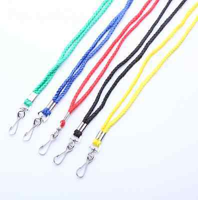 LOT of 100 or 50 NECK Round LANYARD ID BADGES Strap/Holder Black Blue Red Green
