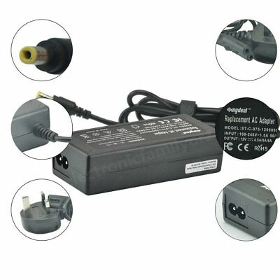 AC Adapter 12V 5A 60W Power Charger Supply Cord Cable For LCD Monitor Screen