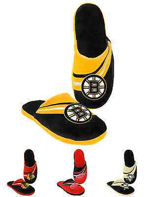 NHL 2013 Big Logo Team Slide Shoe Slippers - New! - Pick Your Team!