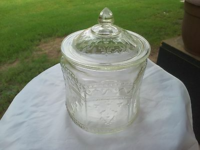 Rare Crystal Patrician Spoke Cookie Jar and Cover