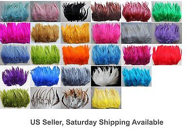 "100+ 9g, 5-7"" Saddle COQUE Rooster Feathers for crafting, 20+ Colors to pick"
