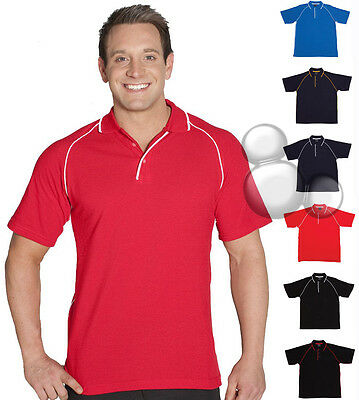 Mens Polo Shirt Size S M L XL 2XL 3XL 4XL 5XL Short Sleeve Piping Top