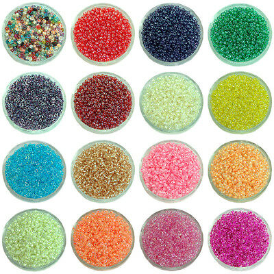 6000 Pcs 2mm Czech Glass Seed Spacer beads Jewelry Making DIY Pick More Color