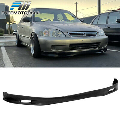 For 99-00 Honda Civic EK Front Bumper Lip Spoon Style Poly-urethane Spoiler PU