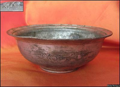 19C. Antique Turkish Ottoman Tinned Copper Tugra Plate - Marked