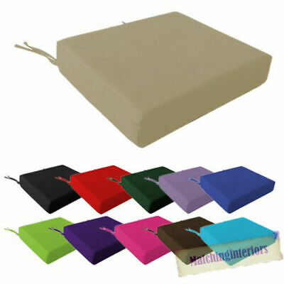 100% Cotton Cover Square Memory Foam Floor Seat Pad Cushion Riser Dining Chair