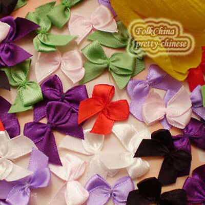 Mixed Satin 20mm Bows Satin Ribbons 10mm Appliques Scrapbooking Cardmaking Craft