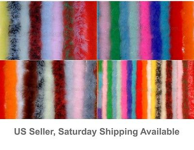 """22g, 72"""" Long Turkey Marabou Feather Boa, 50+ Colors and Patterns to Pick From"""