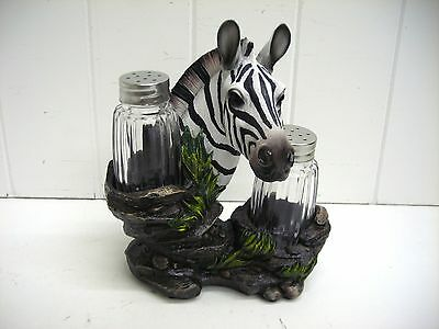 Hd32640 Striped Spice Zebra Salt Pepper Dkw Decoration Statue Figurine
