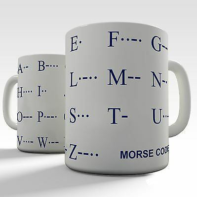 Educational Mugs Morse Code Alphabet
