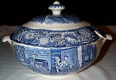 Liberty Blue DECLARATION OF INDEPENDECE Soup Tureen