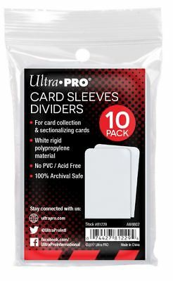 (50) Ultra Pro Taller Trading Card Sleeves Dividers - Fits Card Storage Boxes