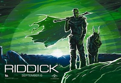 "RIDDICK - 13.5""x19.5"" Original Promo Movie Poster MINT MIDNIGHT IMAX Version"