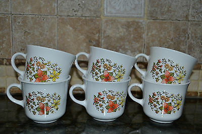 Vintage Corning Corelle Indian Summer Coffee Cup / Mug Lot of 6 VGC