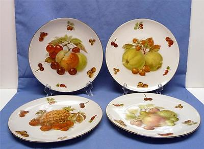 SELTMANN  WEIDEN BAVARIA-WEST GERMANY-SET-4 FRUIT&NUT PLATES- VINTAGE