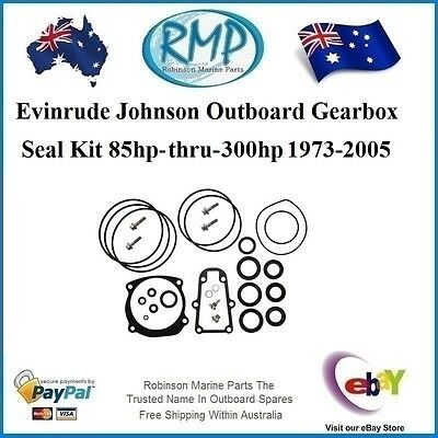 A Brand New Gearbox Seal Kit Evinrude Johnson 85hp-thru-300hp 1973-2005 # 396354