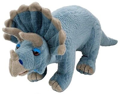 Sculpted 12 inch Triceratops Dinosaur by Wild Republic soft and cuddly NEW