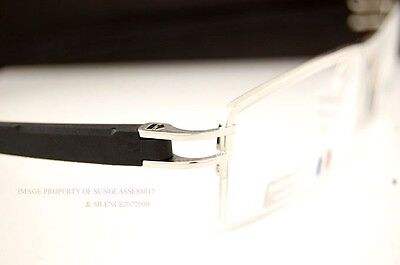 Brand New TAG Heuer Eyeglass Frames TRACK S 7623 011 SILVER/BLACK For Men