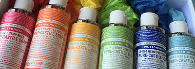DR BRONNER'S Hemp Castile Liquid Soap organic oils Bronners 11 varieties 237ml
