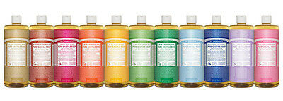 DR BRONNER'S Hemp Castile Liquid Soap organic oils Bronners 11 varieties 946ml