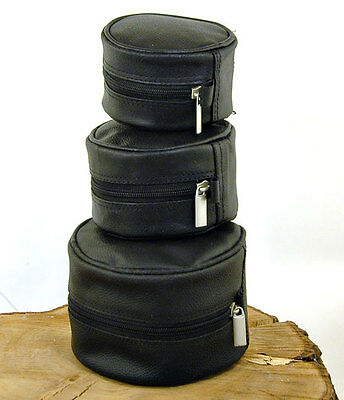 Bison Soft Leather Fly Reel Case 3 Sizes Available