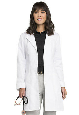 "White Cherokee Scrubs Fashion Womens 36"" Lab Coat 2410 WHT"