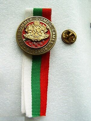 Old sport pin badge button XXII Summer Games Sydney Olympic Committee Bulgaria