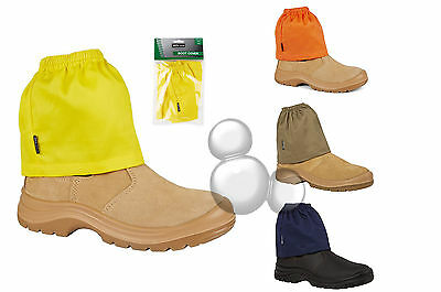 Work Boot Covers Navy or Khaki Overboot Sock Savers Hi Vis High Visibility