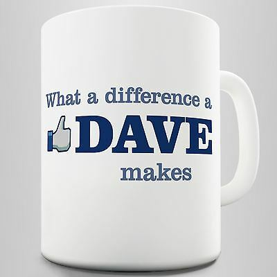 What A Difference A Dave Makes Mug Coffee Mug