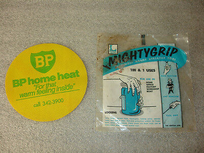 Old Vtg Collectible BP Gas Company Home Heat Mighty Grip Jar Opener Tool