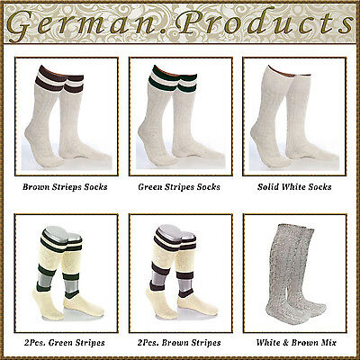 German Bavarian Trachten Lederhosen Socks Pairs,Sizes - 41,42,43,44,45,46,47,48