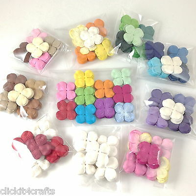 1000 Mini Hydrangea Mixed Die Cut Scrapbooking Paper Flowers Card Crafts P9-H3