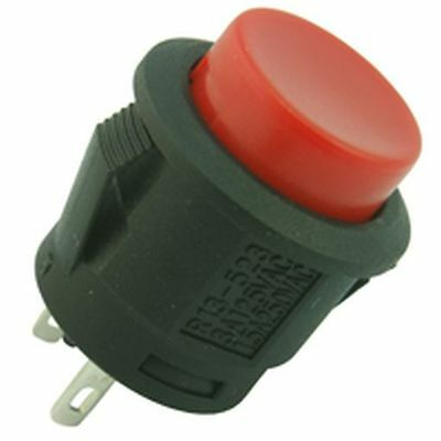 Push Fit Button Switch Red
