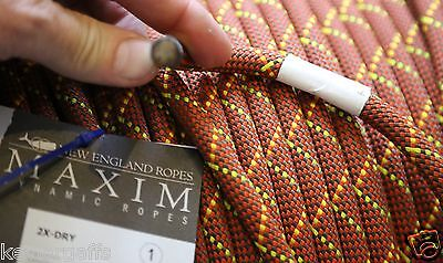 7/16 or 11mm X 50 FEET New England APEX-AMBER 2X-DRY DYNAMIC CLIMBERS ROPE