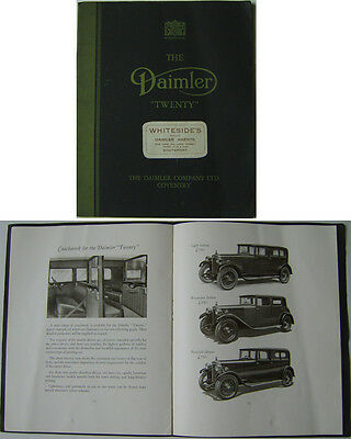 Daimler Twenty 20 Saloon Coupe Landaulette 1930-31 Original Sales Brochure