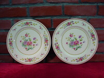 Lot of 2 Mikasa CHESHIRE A6-004 Bone China Floral DINNER PLATES