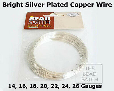 BeadSmith Silver Plated German Craft Wire - 7 Gauges - Bright Silver, Crafts
