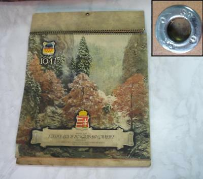 WWII 1941 GERMAN ALLY YEAR CALENDAR w/PHOTOS