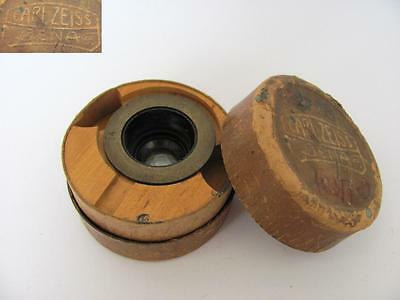 Antique Original Carl Zeiss Jenna Microscope Objective Lens - Boxed
